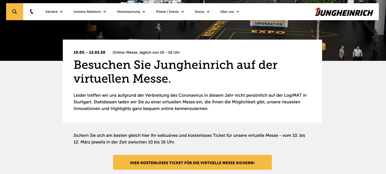 Junhheinrich virtuelle Messe